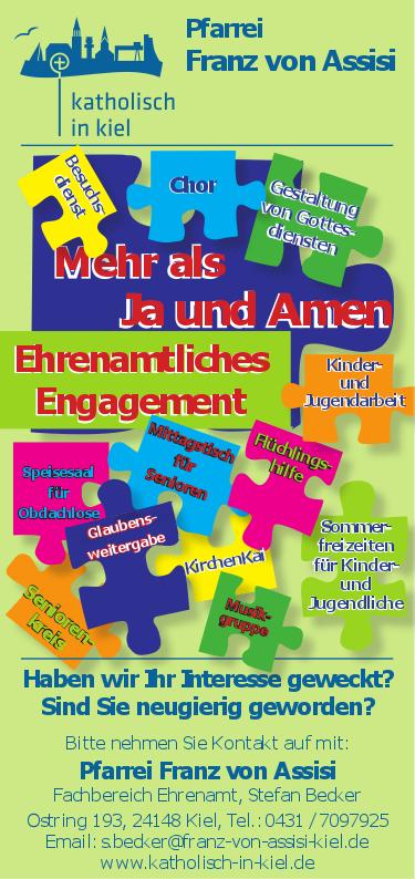 Ehrenamt Katholisch In Kiel