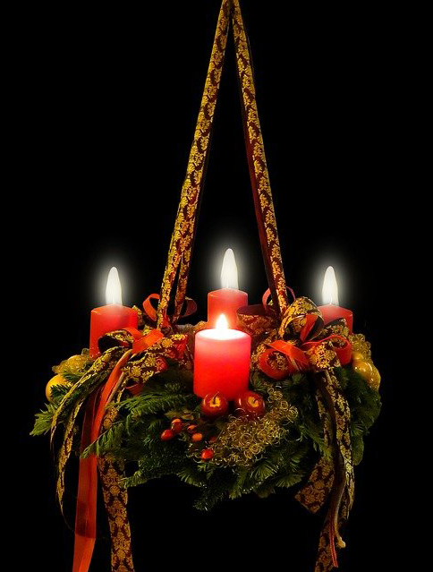 Symbolfoto Adventskranz 4. Advent